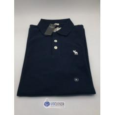 Camisa Polo Abercrombie & Fitch Azul Marinho - Tam: M e XXG
