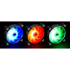 Série BR LITE120-3B RGB 120mm LED PWM Cooler com moldura preta