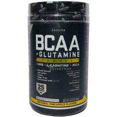 BCAA 4: 1: 1 + Glutamina, HMB, L-Carnitina, HICA (Sabor natural de abacaxi)