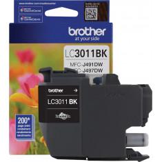 Cartucho de tinta de rendimento padrão LC3011BKS Preto - Brother