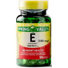 """Vitamina E"" 180mg (400 IU) - Spring Valley"