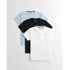 Kit 3 Camisetas Hollister - Tam: M