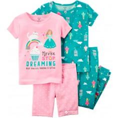 Conjunto pijamas Carter's - Tam: 18 e 6 meses