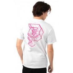 "Camiseta Branca ""P"" (Rosa) - Primitive Tam: G e GG (Estilo: 1903)"