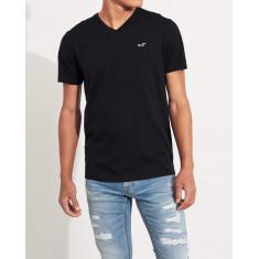 Camiseta Hollister Gola V  Preta - Tam: S