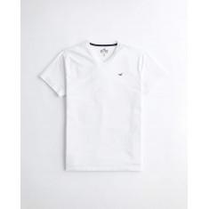Camiseta Hollister Gola V  Branca - Tam: XL